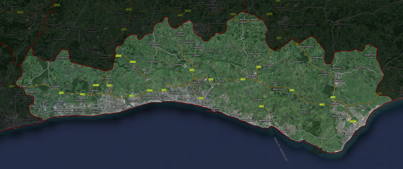 BN postcode map