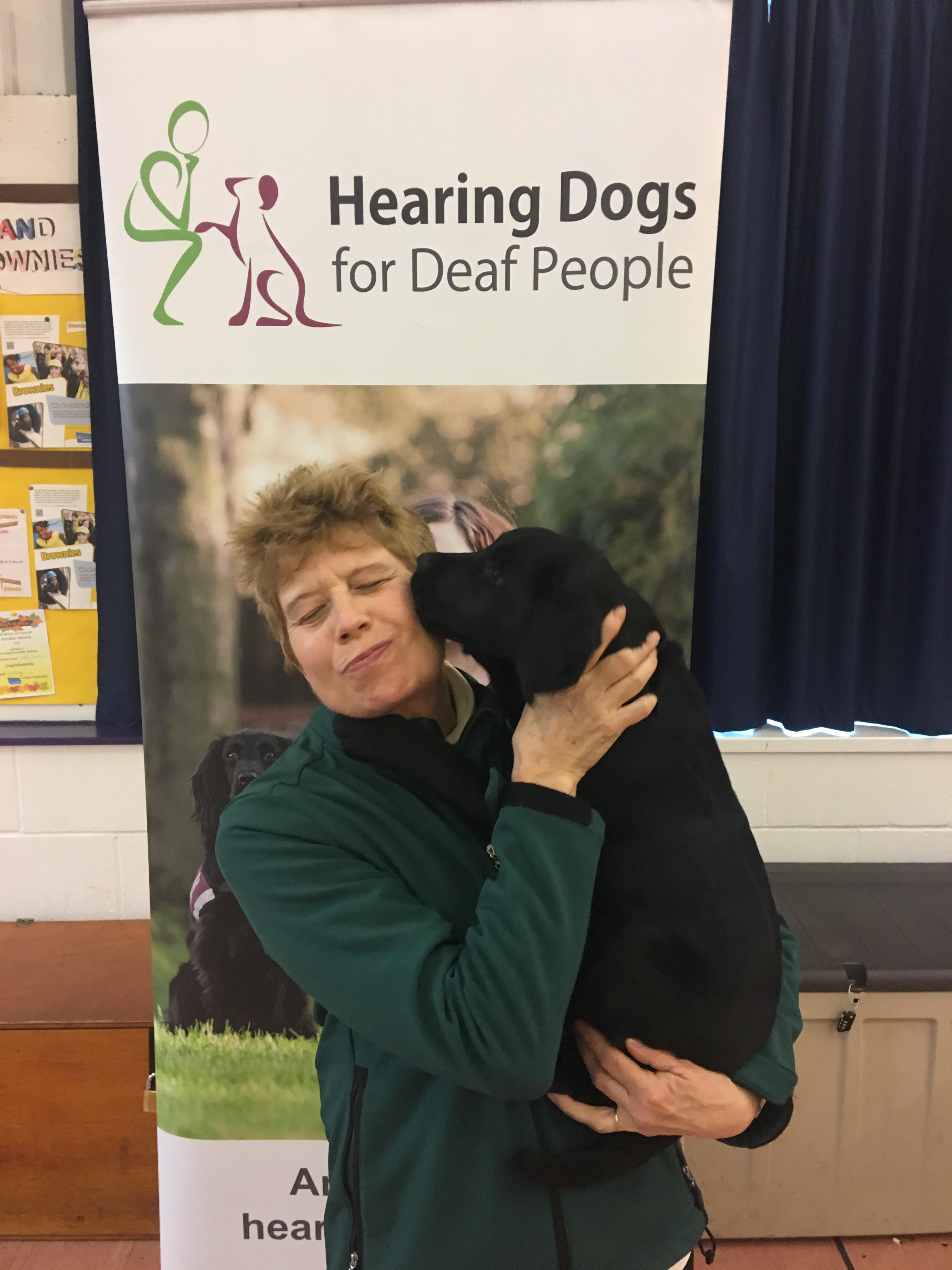 Wagging Tails Franchisee Caroline Harrison with Hearing Dog Neve