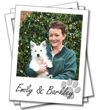 Brighton dog boarding. Emily Deacon with her dog Barkley