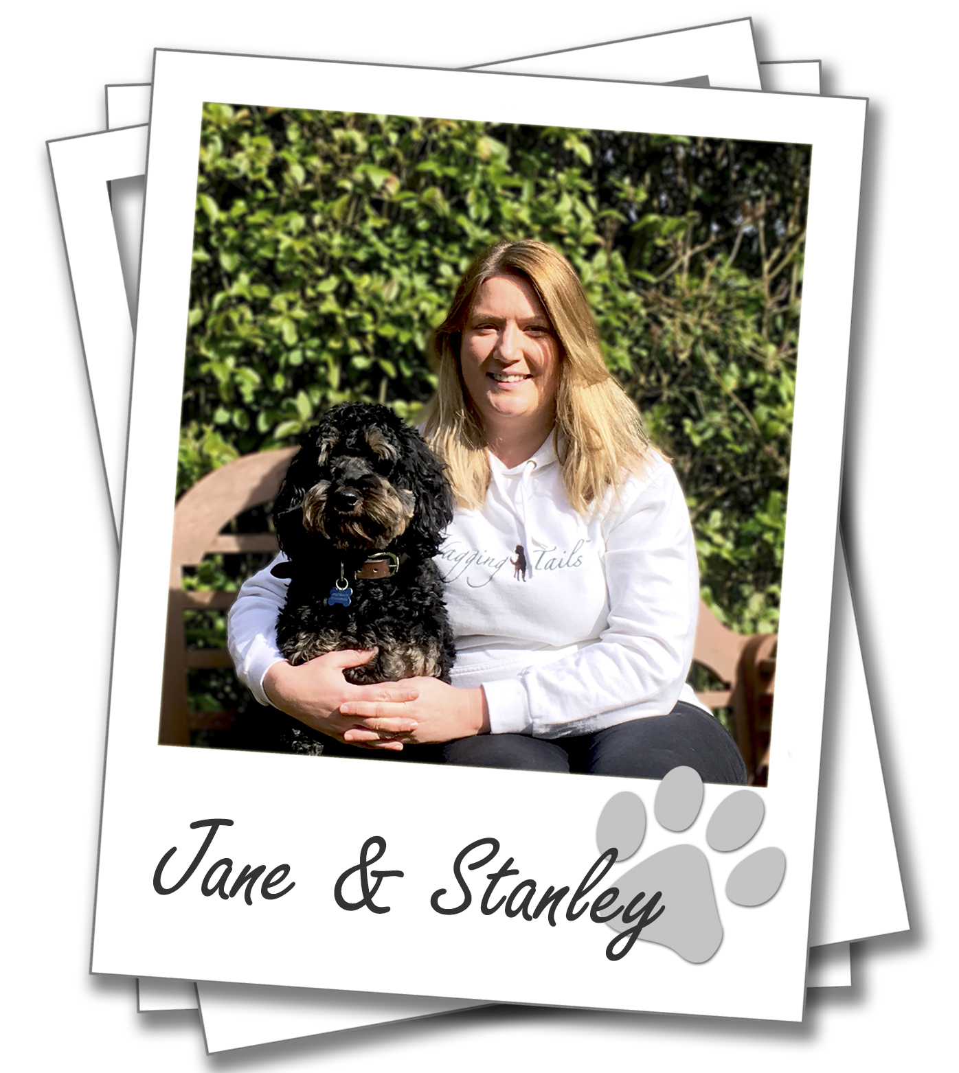 Wagging Tails York Dog Boarding, Jane Bamford with her dog Stanley