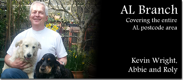 Wagging Tails franchisee Kevin Wright with his dogs Abbie and Roly