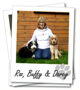 Roz Bourne with her dogs Buffy and Darcy