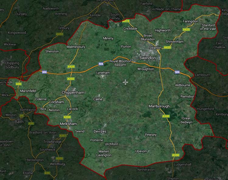 SN postcode map
