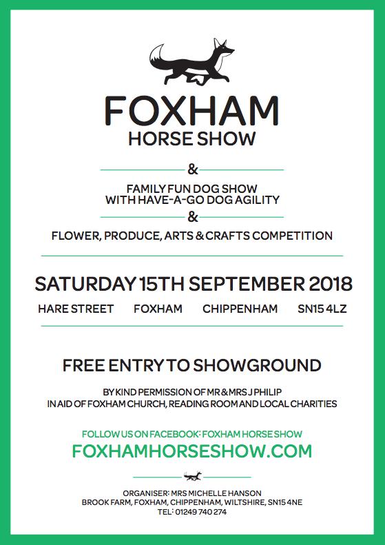 Foxham Horse Show poster
