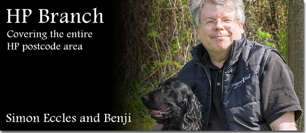 Wagging Tails franchisee Simon Eccles with his dog Benji
