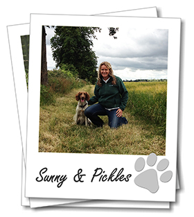 Berkshire dog boarding Franchisee Sunny Montague with her Springer Spaniel Pickles