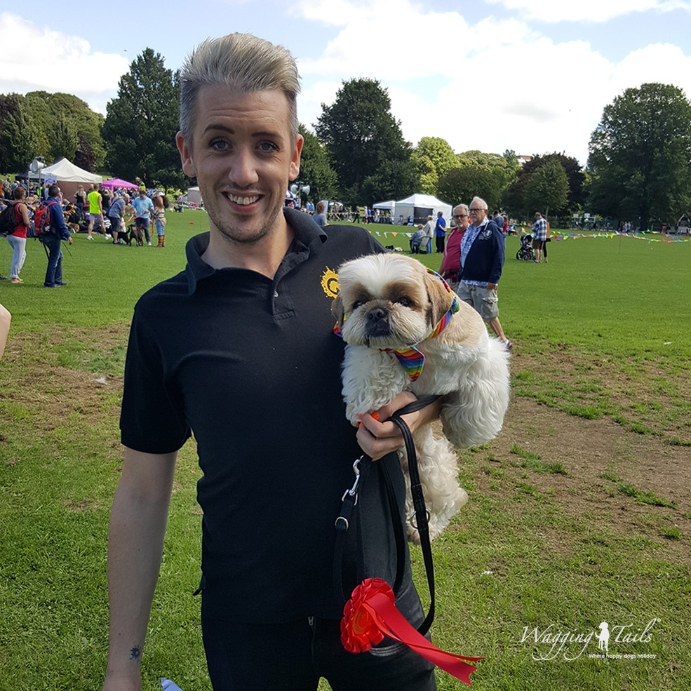 Dennis winner of the Most Handsome Dog category at the Brighton Pride Dog Show 2017