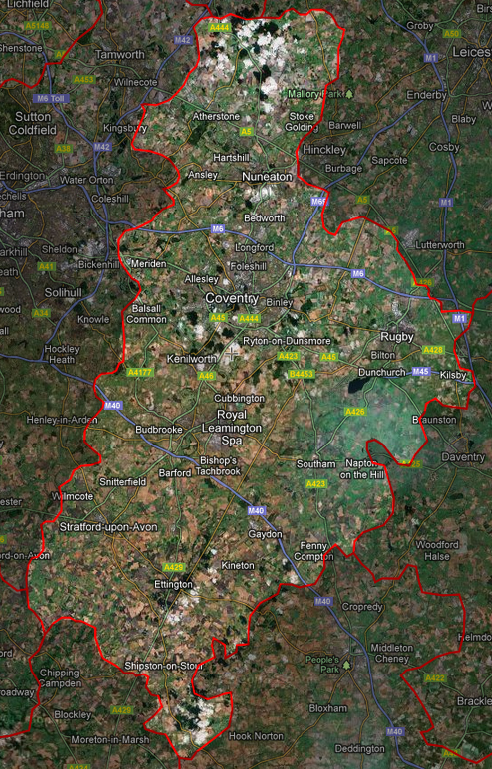 CV postcode map
