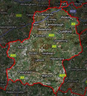 GU postcode map