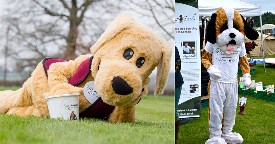 Hearing Dogs for Deaf People Mascot vs Wagging Tails Mascot