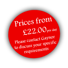 Prices from £22.00 per day. Please contact Clair to discuss your specific requirements