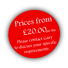 Prices from £20 per day