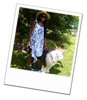 Sherlock on his Berkshire dog boarding holiday with dog carer Rose