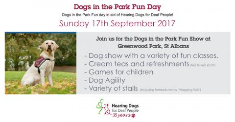 Hearing Dogs for Deaf People Dogs in the Park Fun Day, St Albans September 2017