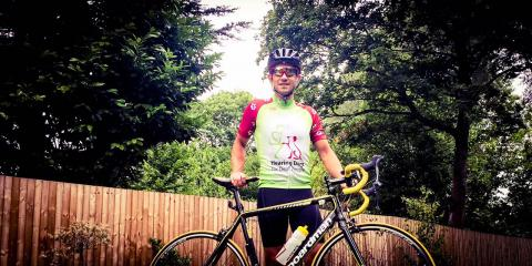 Wagging Tails Director Jim Suswain will be riding the Hearing Dogs for Deaf People Sportive 2017