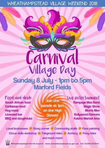 Wheathampstead Carnival Village Day 2018