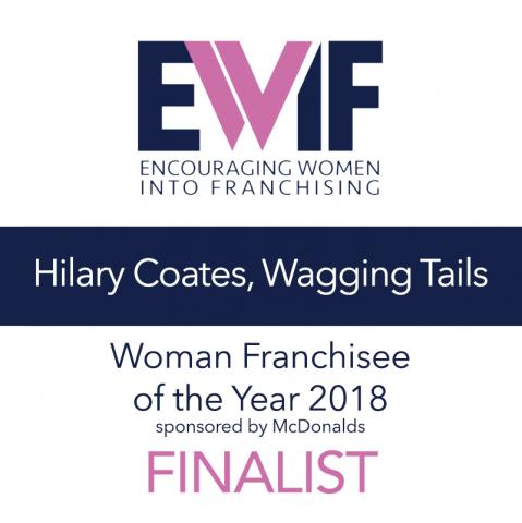 Franchisee of the Year 2018 Finalist, Hilary Coates Wagging Tails Swindon dog boarding