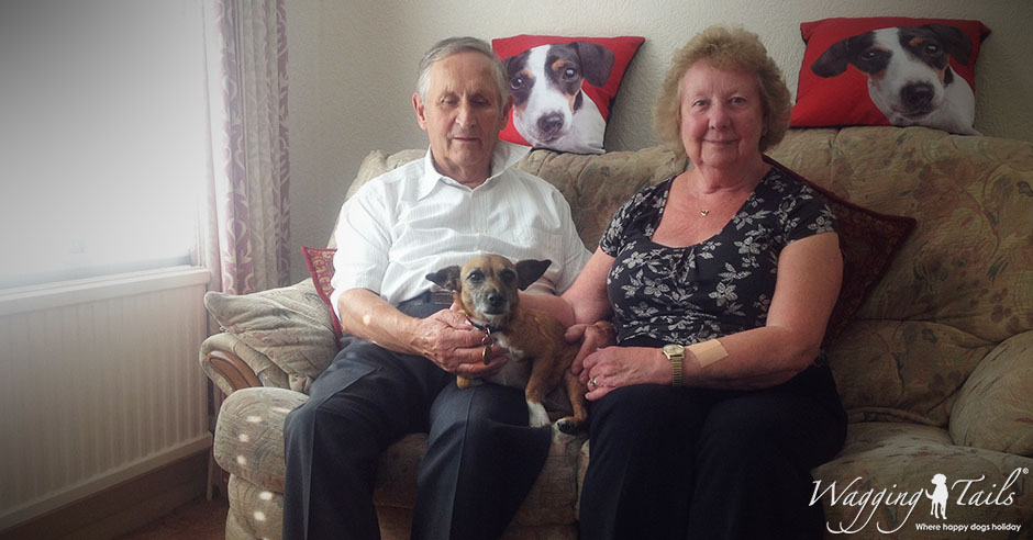 East Sussex Dog Carers Phyllis & Bernard enjoying the company of one of her guests